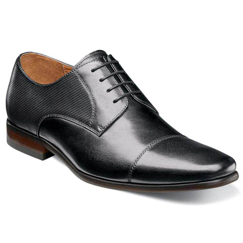 Florsheim Pro-Lace- Up Cap Toe Black Oxford