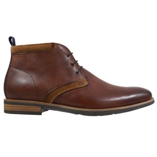 Florsheim Heeled Plain Toe Chukka Cognac Boot