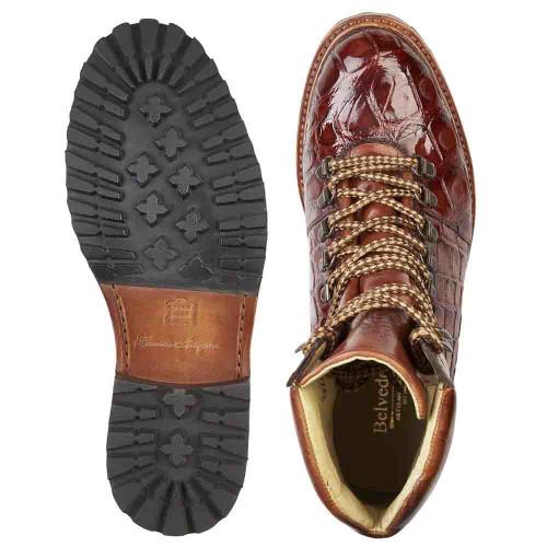 Belvedere Damian in Peanut Genuine Alligator Boot
