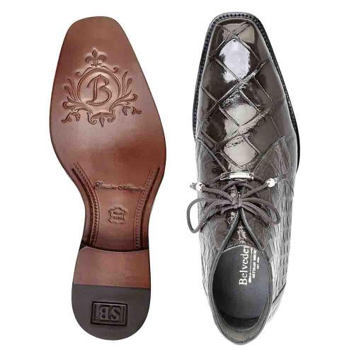 ec65ee503 Belvedere Stefano Gray Genuine Alligator Ankle Boot