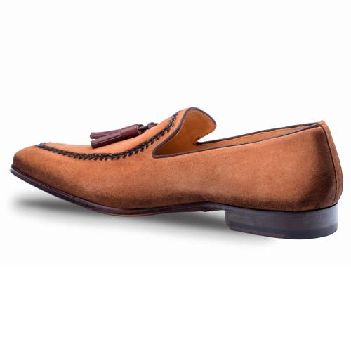 efbe1d43b53 Mezlan Plazza Cognac Suede Mens Dress Shoes