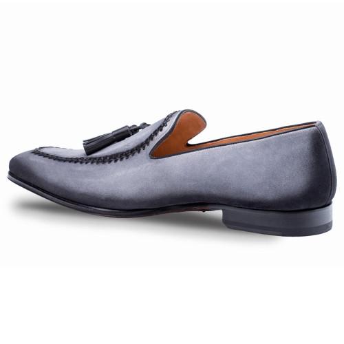 6a93d119eb2 Mezlan Plazza Grey Suede Mens Dress Shoes