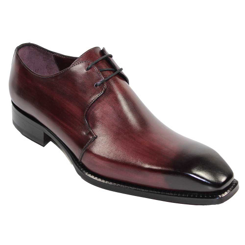 Emilio Franco Franco Burgundy Italian Leather Oxfords