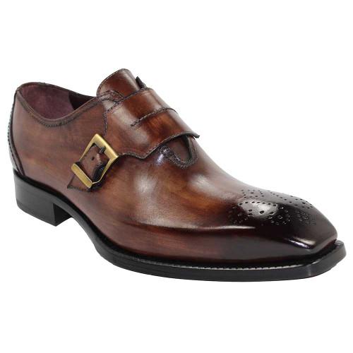 Emilio Franco Luca Brown Italian Leather Monkstraps