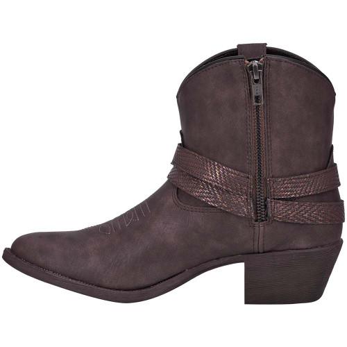 Dingo Aydra Women Chocolate Manmade Leather Booties