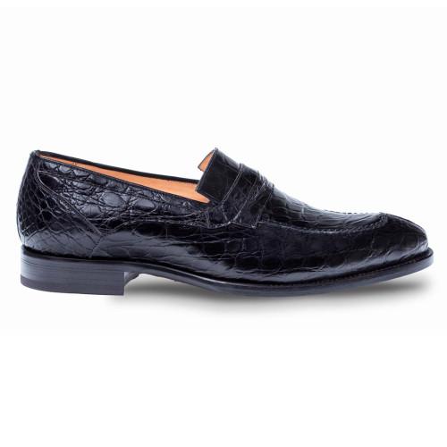 Mezlan Bixby Genuine Crocodile Black Classic Men's Loafer