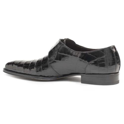Mezlan Dallas Genuine Crocodile Black Classic Monk Strap Men's Slip on Shoes