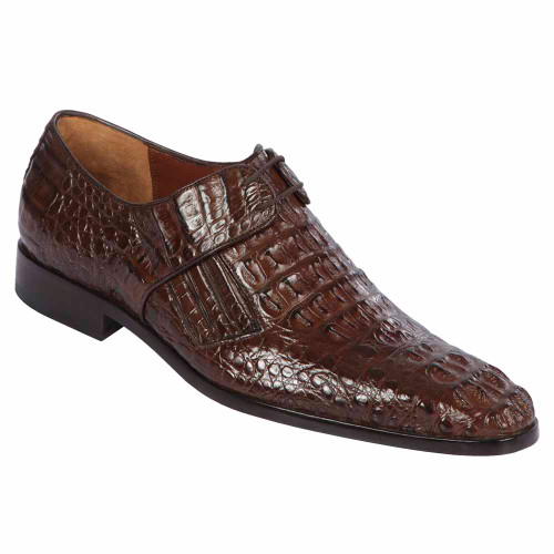 Lombardy Brown Genuine Full Crocodile Men's Lace Up Shoes