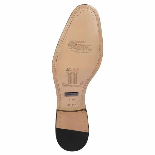 Lombardy Black Genuine Crocodile & Calfskin Men's Slip On Shoes