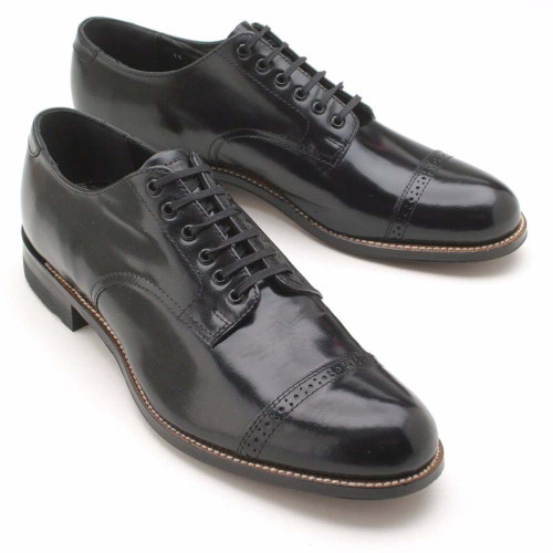 Stacy Adams Madison Black Cap Toe Oxfords