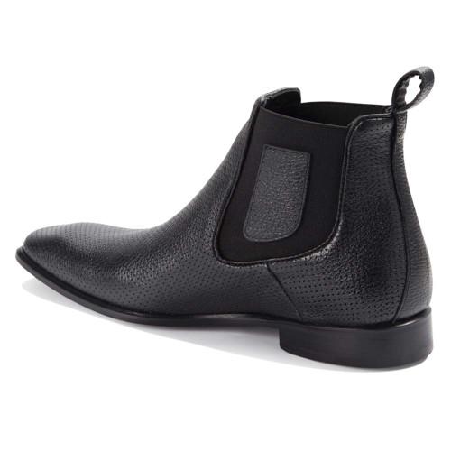 Vestigium Black Grisly Leather Men's Chelsea Boots