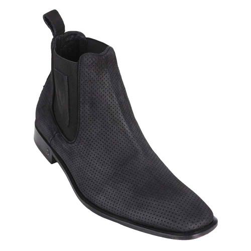 Vestigium Black Suede Leather Men's Chelsea Boots