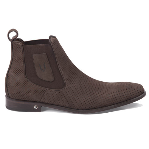 Vestigium Tobacco Suede Leather Men's Chelsea Boots