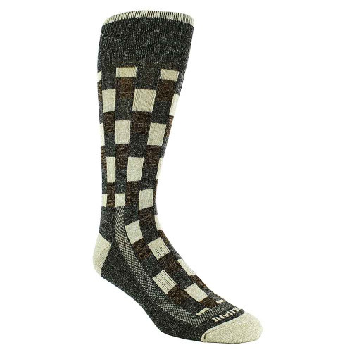 Remo Tulliani Fox Brick Pattern Gray & Multi Men's Socks