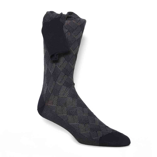 J&M Black Men's Pattern Socks