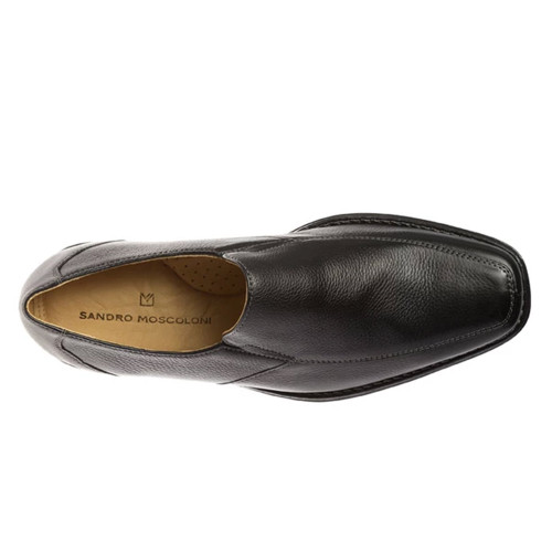 Sandro Moscoloni Renzo Black Leather Men's Slip On Venetian Loafer