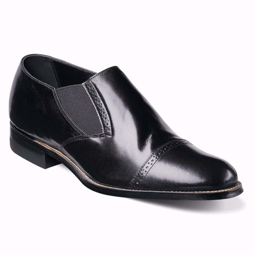 Stacy Adams Madison Black Leather Slip-ons
