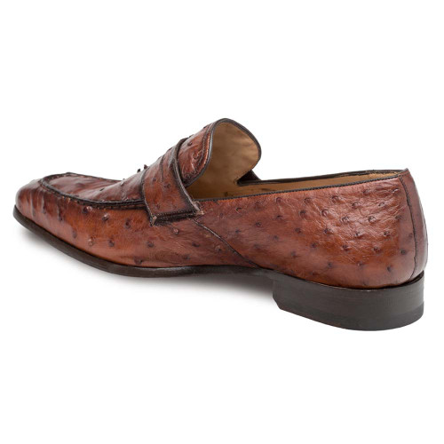 Mezlan Lisbon Brandy Genuine Ostrich Men's Classic Slip On