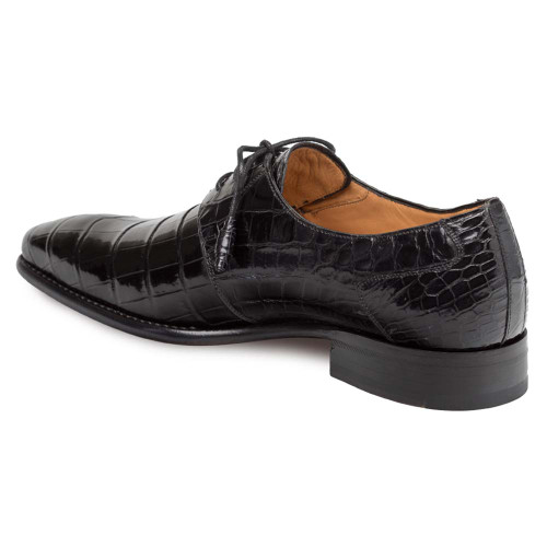 Mezlan Moscow Black Genuine Full Alligator Men's Plain Toe Oxford