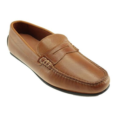 T.B. Phelps Sundance Tan American Bison Leather Men's Penny Loafer