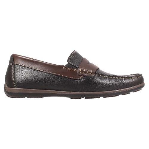 Florsheim Interpid Black Multi Genuine Leather Men's Moc Toe Penny Driver