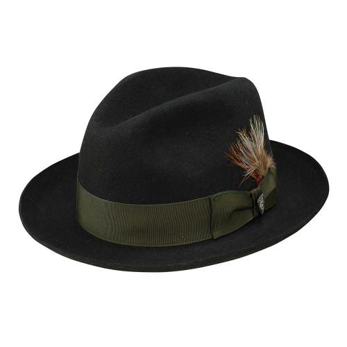 Dobbs Barrington Black Men's Fedora Hat