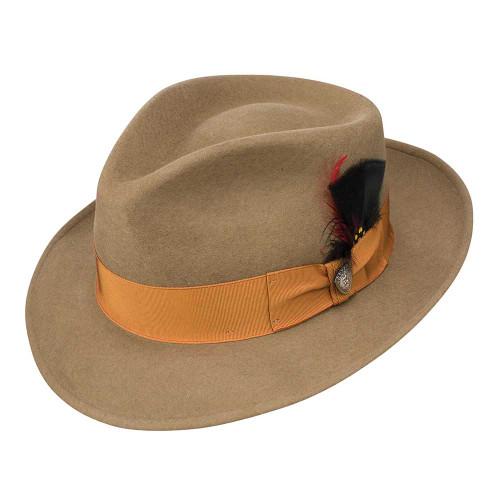 Dobbs Strand Camel Men's Wool Felt Fedora Hat