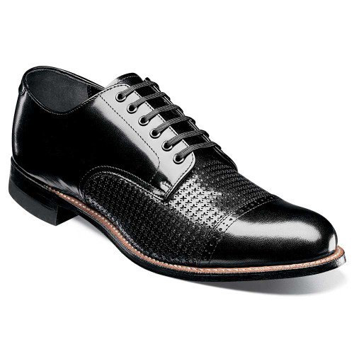 Stacy Adams Madison Black Kidskin Leather Men's Cap Toe Oxford