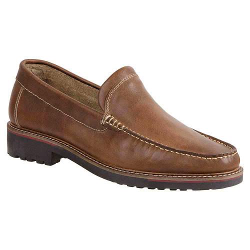 Sandro Moscoloni Neville Natural Leather Venetian Handsewn Men's Moc Toe Slip On Loafer