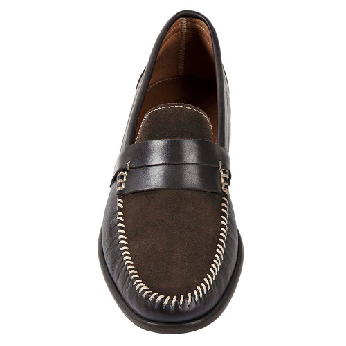 Sandro Mosoloni Jayson Brown Handsewn Men's Whipstic Moc Toe Slip On Loafers