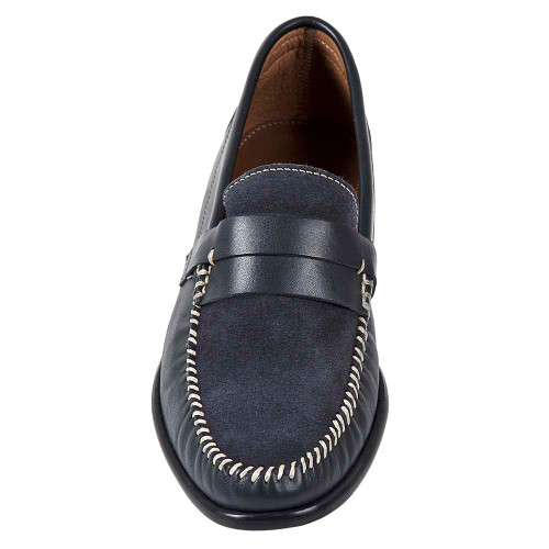 Sandro Mosoloni Jayson Grey Handsewn Men's Whipstic Moc Toe Slip On Loafers