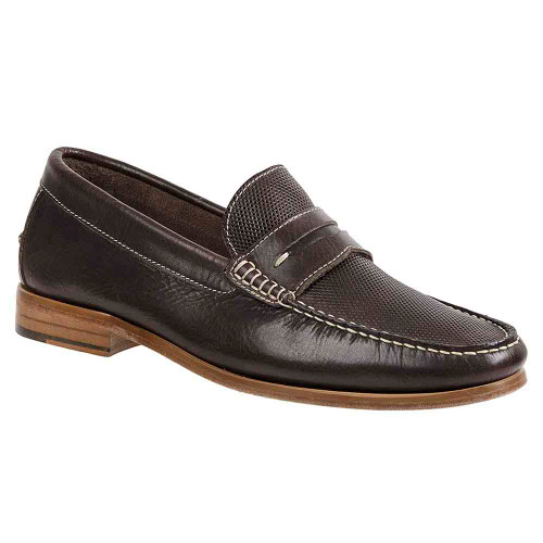 Sandro Moscoloni Jeromy Brown Leather Handsewn Men's Moc Toe Slip On Loafers