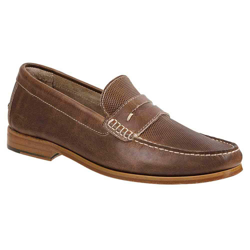 Sandro Moscoloni Jeromy Tan Leather Handsewn Men's Moc Toe Slip On Loafers