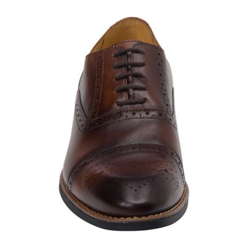 Sandro Moscoloni Murali Brown Leather Men's Cap Toe Lace Up Oxford