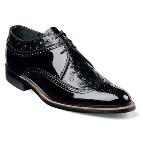 Stacy Adams Dayton Black Ostrich Print Oxford