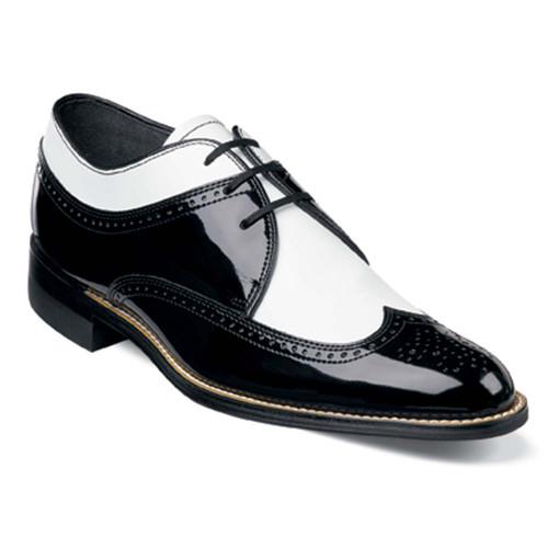 Stacy Adams Dayton Black & White Patent Lace-Up