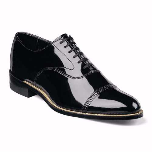 Stacy Adams Concorde Black Patent Lace-Up