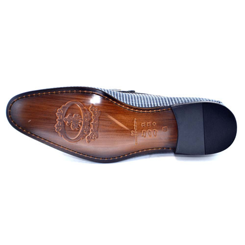 Corrente Multi Leather Bit Ornament Men's Slip On Loafer