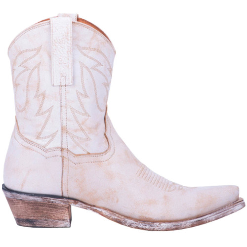 Dan Post Standing Room Only In White Genuine Leather Women's Boots
