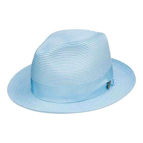 Dobbs Rosebud Baby Blue Firm Finish Men's Hat