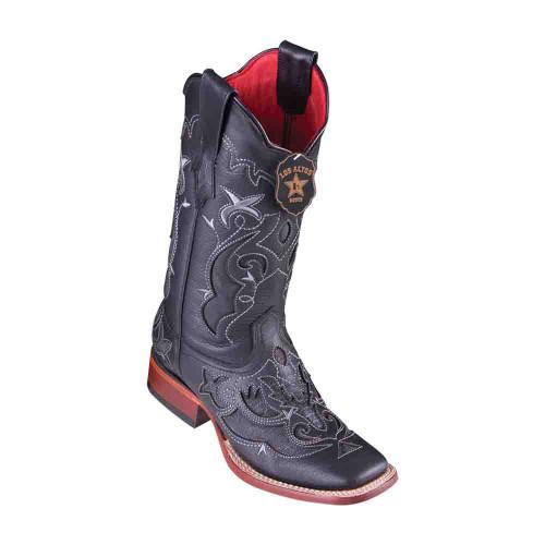Los Altos Teju Lizard Black Square Toe Women's Boot