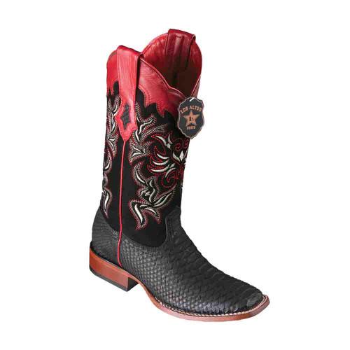 Los Altos Python Black Square Toe Women's Boot