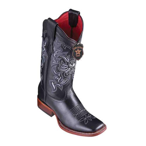 Los Altos Black Vergel Leather Square Toe Women's Boot