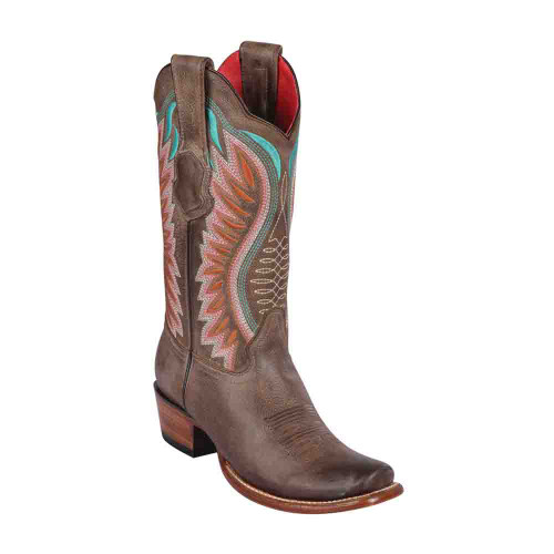 Los Altos Brown Vintage Leather Dubai Toe Women's Boot