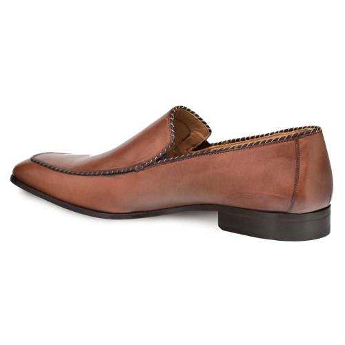 Mezlan Brandt Cognac Calfskin Men's Slip On