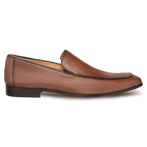 Mezlan Brandy Cognac Calfskin Men's Slip On