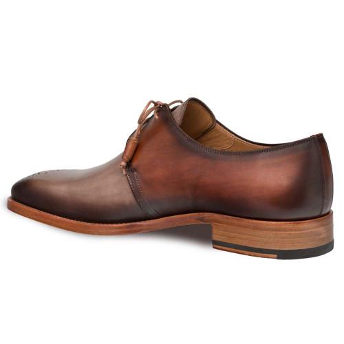 Mezlan Montes Taupe & Cognac Italian Calfskin Men's Oxford
