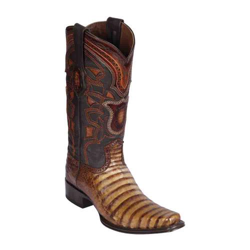 Los Altos Porto Oryx Caiman Belly European Square Toe Men's Boot