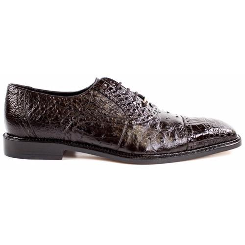 Belvedere Onesto Brown Genuine Ostrich & Crocodile Men's Oxford