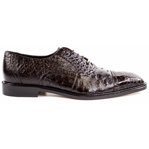 Belvedere Onesto Brown Genuine Ostrich & Crocodile Men's Oxford
